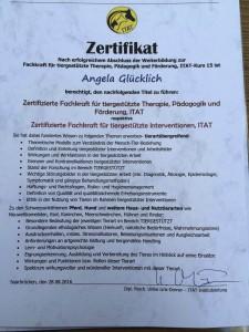 Angela ITAT Zertifikat